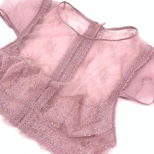 Victoria's Secret Pink Lace Crop Top Very Sexy